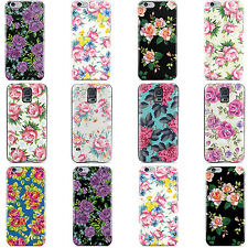 DYEFOR HARD BACK CASE COVER FOR POPULAR PHONES SHABBY CHIC FLORAL COLLECTION