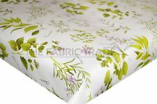 WIPE CLEAN PLANT HERB GARDEN PVC TABLECLOTH VINYL OILCLOTH FABRIC COVERING