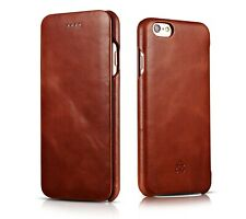 Novada Genuine Leather iPhone 6 6S Flip Case Cover – Vintage & Classic
