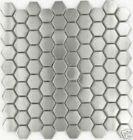 "Stainless Steel Metal Hexagon Tiles Sample 3"" x 3"""