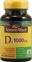 Nature Made Vitamin D3 1000 IU  300 Tablets