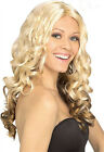 Ladies Goldilocks Woman Wigs Costume Fancy Dress Up Long Blonde Curly Hair