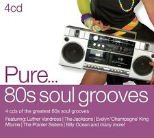 VARIOUS-PURE...80S SOUL GROOVES-CD (4) SONY MUSIC CATALOG NEW