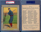 1911 TURKEY RED CABINETS T3 #24 MIKE MITCHELL CHECKLIST BACK PSA 1 (6344)