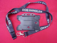 DOG HANDLER Safety Neck Lanyard & Police/Security/SIA ID Pass Card/Badge Holder