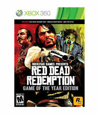 RED DEAD REDEMPTION - GAME OF THE YEAR EDITION  --  XBOX 360 Complete w/ Map