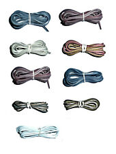 LEATHER Boot or Shoe Laces Top Quality 60cm long – choice of colours