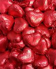 200 RED FOIL CHOCOLATE LOVE HEARTS WEDDING FAVOURS VALENTINES