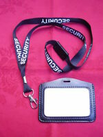 SECURITY/SIA Safety Neck Lanyard+Police Style Warrant ID Pass Card/Badge Holder