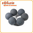 6 x GREEN Dot Squash Balls Generic Non-Branded High Quality Rubber