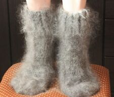 Socks Longhair 100% goat fluff, hand knit, Super Furry Fetish, Mohair Men