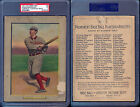 1911 TURKEY RED CABINETS T3 #4 ROGER BRESNAHAN CHECKLIST BACK PSA 1 (6339)