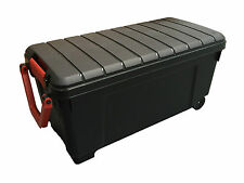 Heavy Duty Extra Long Mobile Plastic Storage Trunk Gear Box with Pull up handle!