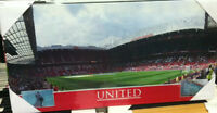"UNITED FOOTBALL CLUB  OLD TRAFFORD STADIUM 24x12"" CANVAS  WALL ART"