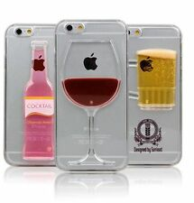 Red Wine Glass BeerCocktail Moving Liquid 3D Case Cover 1=30 IPhone Mobile Phone