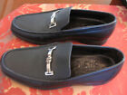 NEW - A. TESTONI MEN'S BLACK LEATHER LOAFER SHOES - SIZE 8 1/2
