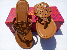 TORY BURCH logo tan lichee leather sandals size7 8 9 10