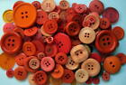 LOT OF 50 ASSORTED ORANGE COLOR BUTTONS *NEW *