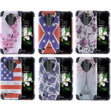 LG K7 Tribute 5 LS675 K8 Escape 3 Treasure L52VL  Slim Design Armor Hybrid Case