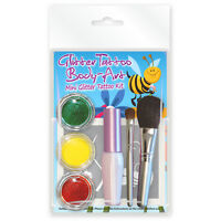 Bugs & Butterflies Mini Glitter Tattoo Kit 24 stencils, body glue & brush set!