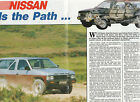 Vintage 1987 2 pgs NISSAN PATHFINDER 4WD CARS Advertisement/Article