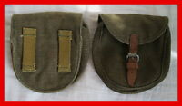 60s New Vintage Canvas Leather messenger bag USSR WW2 PPSH AMMO MAGAZINE POUCH