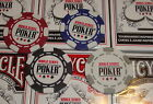 New 2016 World Series of Poker Chip Set of 4 Chips WSOP Red Black Blue Grey