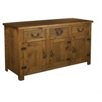 NEW SOLID WOOD SIDEBOARD DRESSER CUPBOARD BASE  RUSTIC PLANK PINE FURNITURE