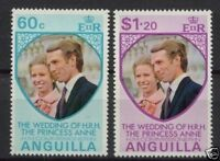 Anguilla 1973 Royal Wedding MNH Set