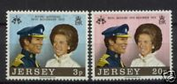 Jersey 1973 Royal Wedding MNH Set