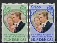 Montserrat 1973 Royal Wedding MNH Set