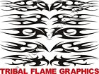 E TRIBAL FLAME Windshield Sticker Decals Graphic Banner