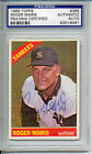 Roger Maris 1966 TOPPS #365 Signed Autographed Card PSA DNA #82018461
