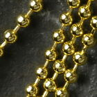 Lot of (TEN) 10 Gold Plated CHAIN NECKLACES 2.4mm Ball 18""