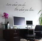 Wall Decals - Quote - Love what you do - Wall letters