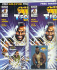Mr. T & T-Force 1 SEALED PAIR, A-Team GOLD CARD & PHOTO