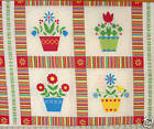 "Andover Fabrics"" PAINTED POSIES"" FLOWERS & POTS FABRIC"