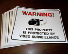 LOT OF SECURITY SPY ZOOM CCD VIDEO CAMERA WARNING SIGNS