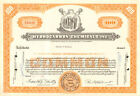 HYDROCARBON CHEMICALS PIPELINE N.J. stock certificate