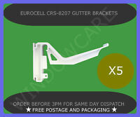 5 X EUROCELL CONSERVATORY GUTTER BRACKET CRS-8207 WHITE