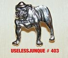 US MARINES BULL DOG HAT PIN ANTIQUE SILVER FINISH #403