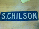 Vintage S Chilson Street Sign ~ Bay City, Michigan
