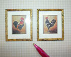 McBay Fabulous Miniature Art, Rooster Pair: DOLLHOUSE