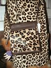 DESIGNER COUTURE LEATHER LEOPARD PRINT PONYHAIR HANDBAG