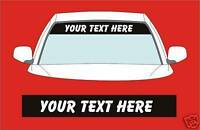 SUN STRIP ADD YOUR OWN TEXT DECALS GRAPHICS choose any 2 colours from list