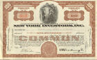 New York Investors old NY stock certificate share