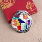 Mother of Pearl Make-up Compact Mirror - Patchworked (Small Size)
