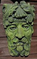 GREEN MAN GREENMAN WALL PLAQUE RIVER BOYNE frost proof stone pagan wicca