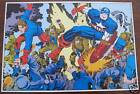 Vintage 1978 CAPTAIN AMERICA  Pin up Poster Marvel
