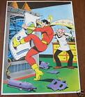Vintage 1978 CAPTAIN MARVEL Pin up Poster DC Shazam
